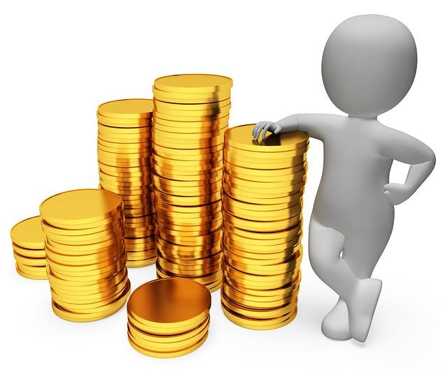 zlaté mince u panáčka